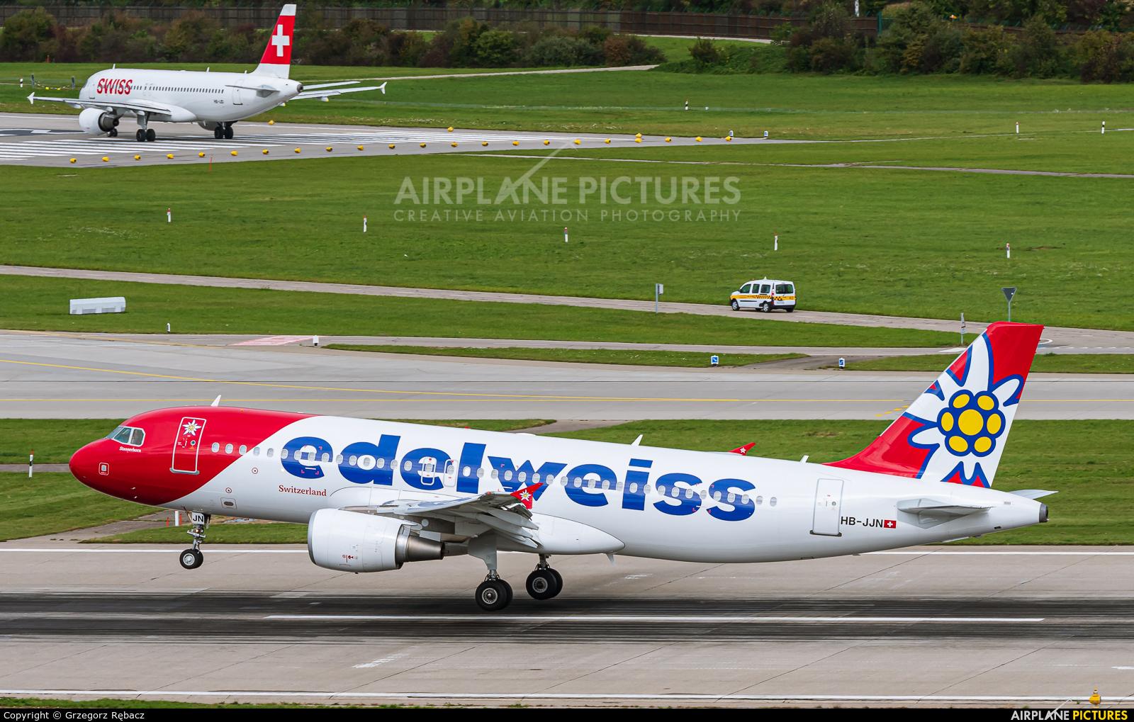 Edelweiss HB-JJN aircraft at Zurich