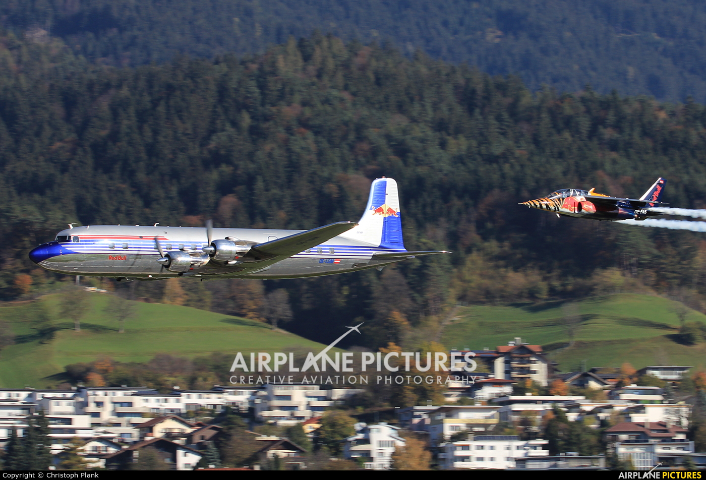 Red Bull OE-LDM aircraft at Innsbruck