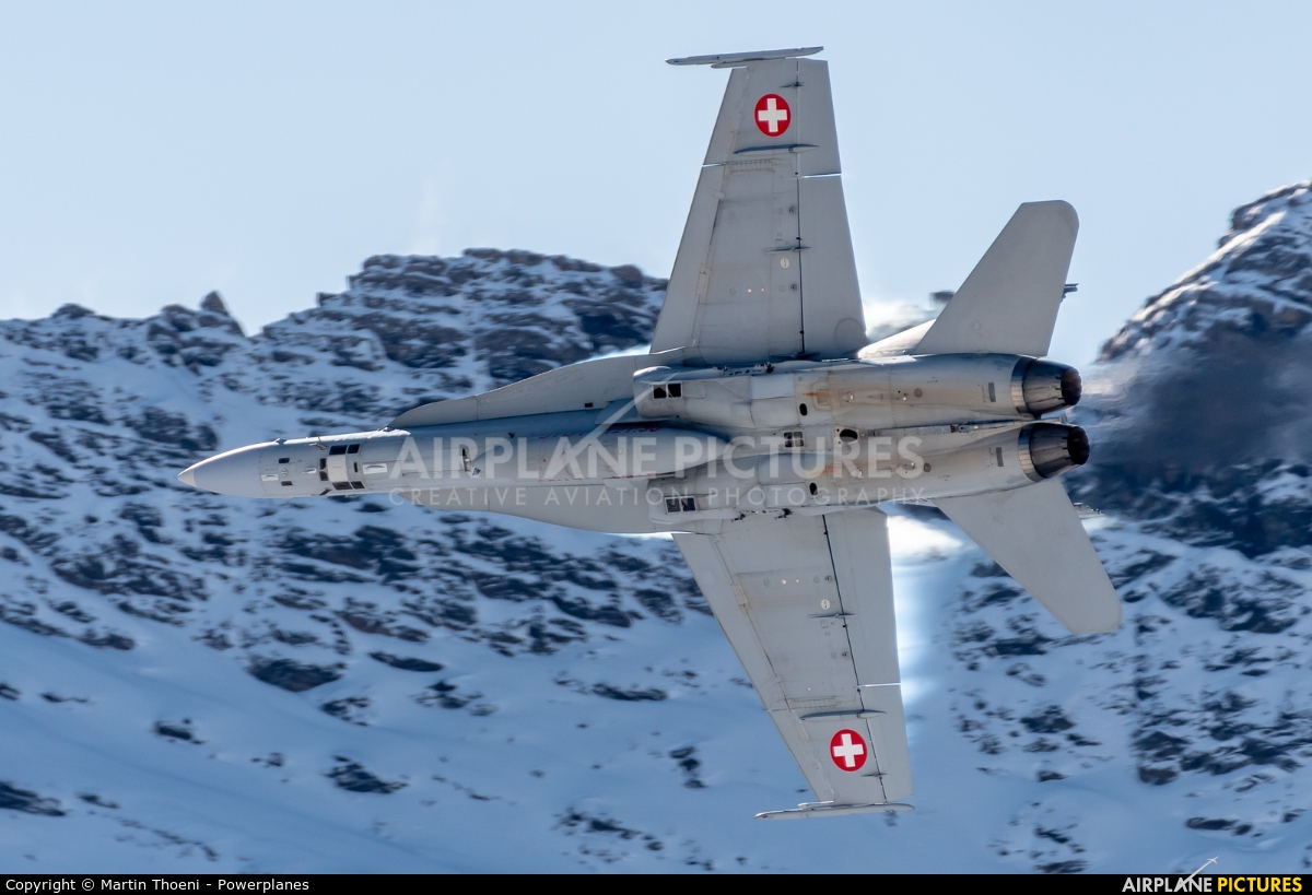 Switzerland - Air Force J-5006 aircraft at Axalp - Ebenfluh Range