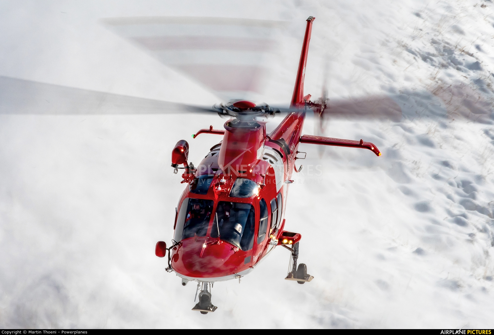 REGA Swiss Air Ambulance  HB-ZRX aircraft at Axalp - Ebenfluh Range