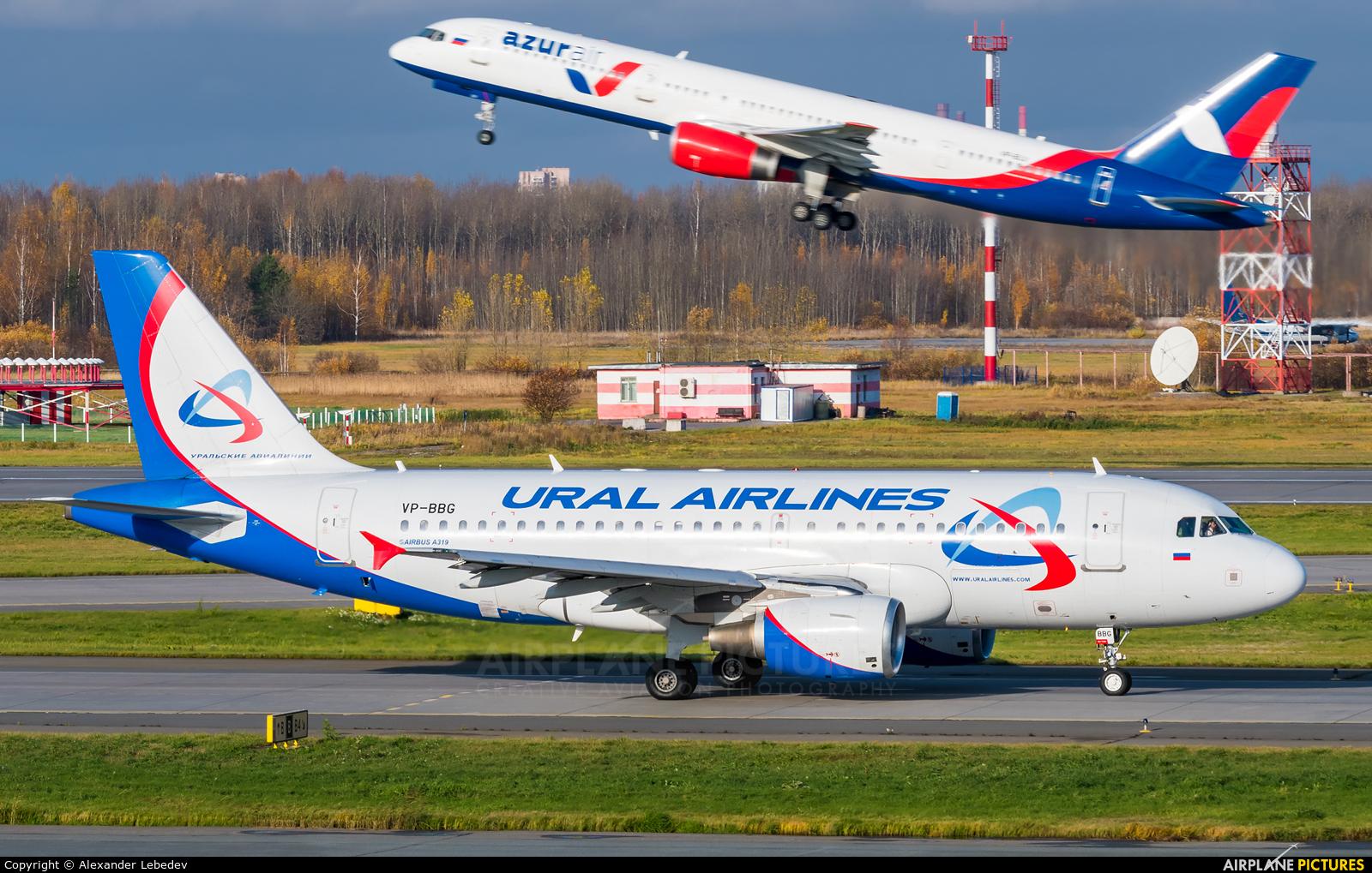 Ural Airlines VP-BBG aircraft at St. Petersburg - Pulkovo