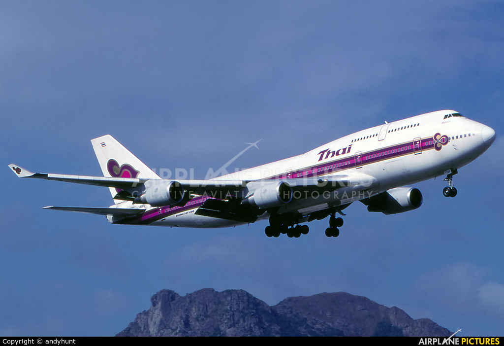 Thai Airways HS-TGH aircraft at HKG - Kai Tak Intl CLOSED