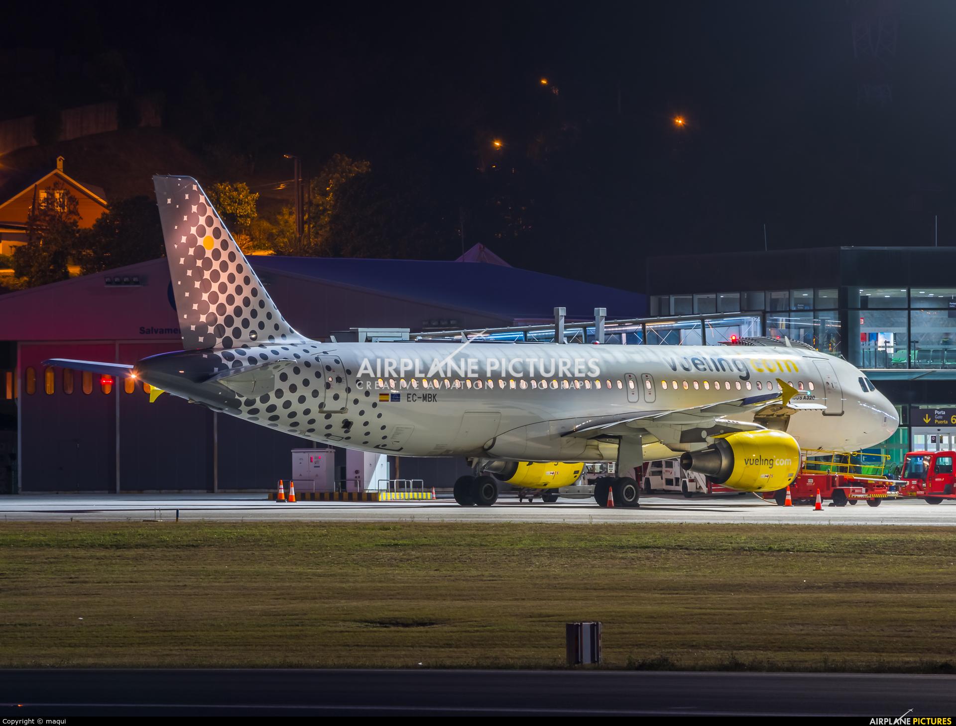 Vueling Airlines EC-MBK aircraft at La Coruña