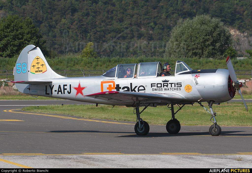 Private LY-AFJ aircraft at Trento - Mattarello