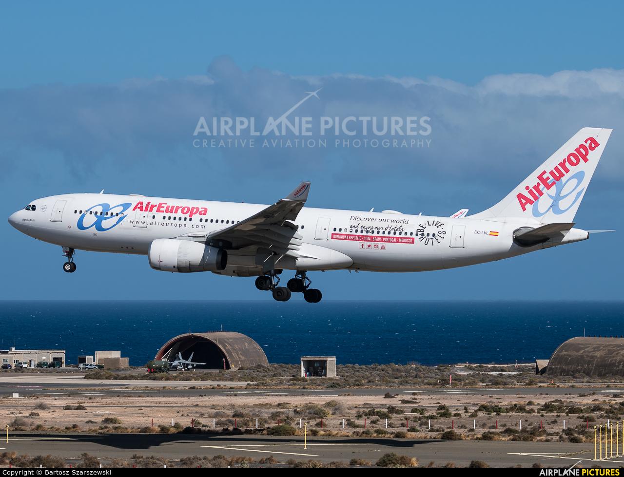 Air Europa EC-LVL aircraft at Aeropuerto de Gran Canaria