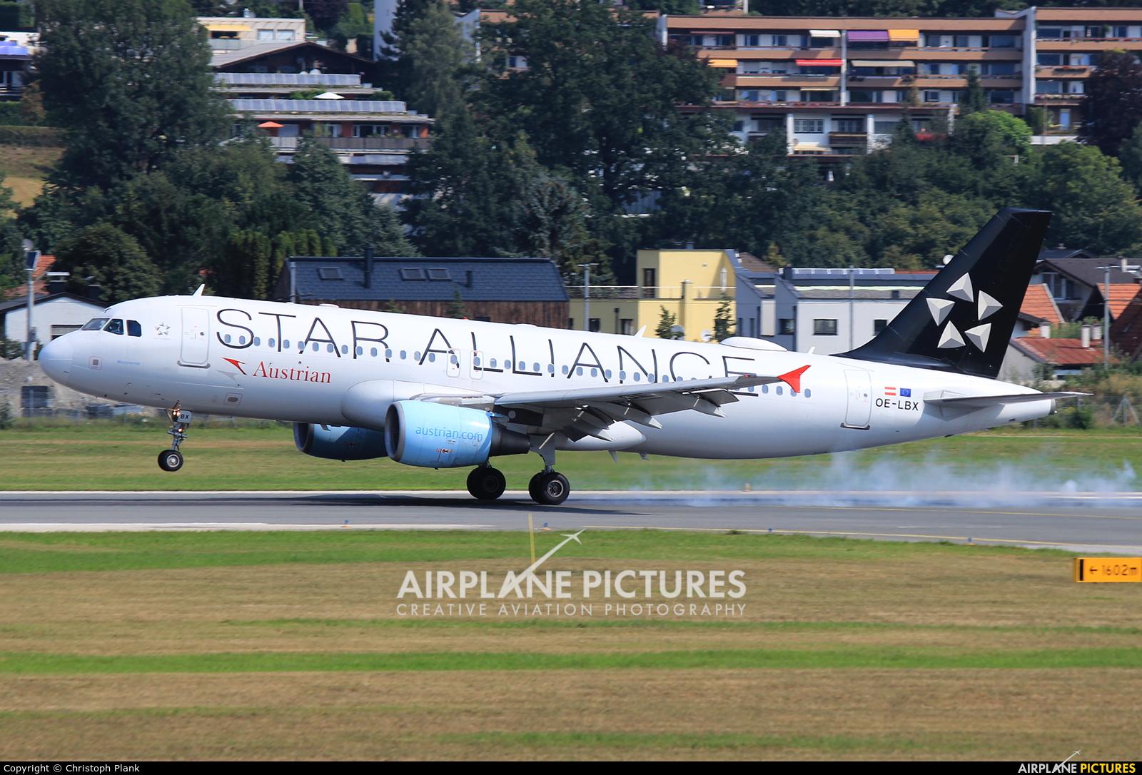 Austrian Airlines/Arrows/Tyrolean OE-LBX aircraft at Innsbruck