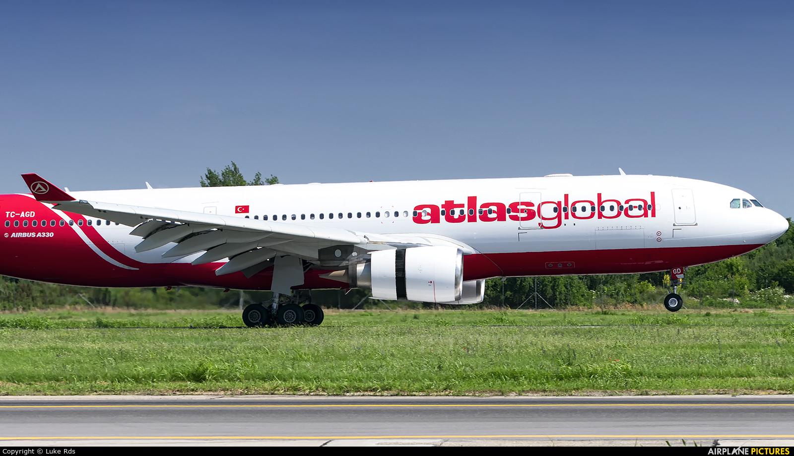 Atlasglobal TC-AGD aircraft at Bucharest - Henri Coandă