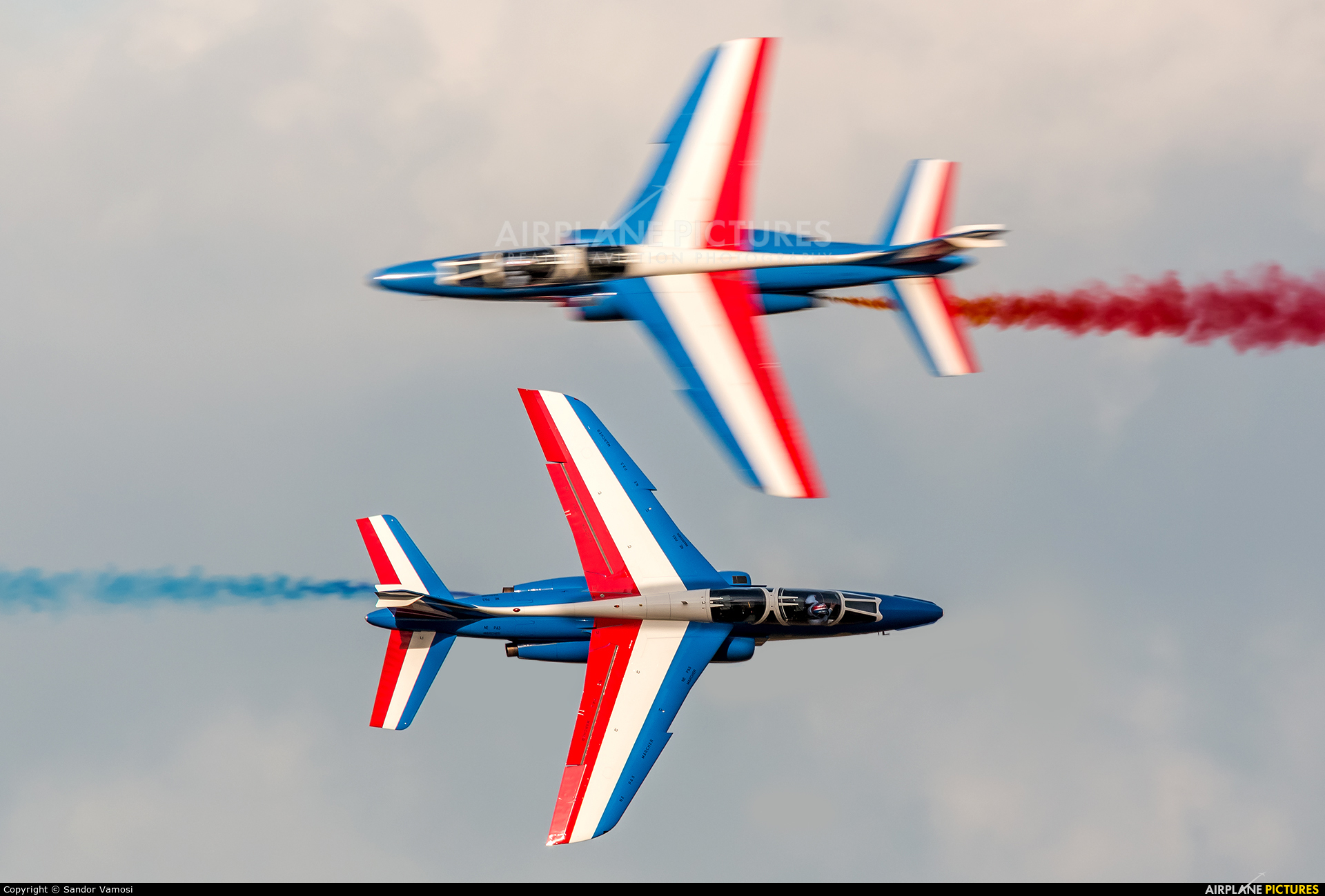 "France - Air Force ""Patrouille de France"" E85 aircraft at Ostrava Mošnov"