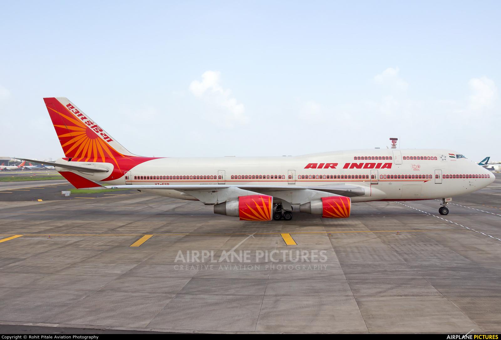 Air India VT-ESP aircraft at Mumbai - Chhatrapati Shivaji Intl