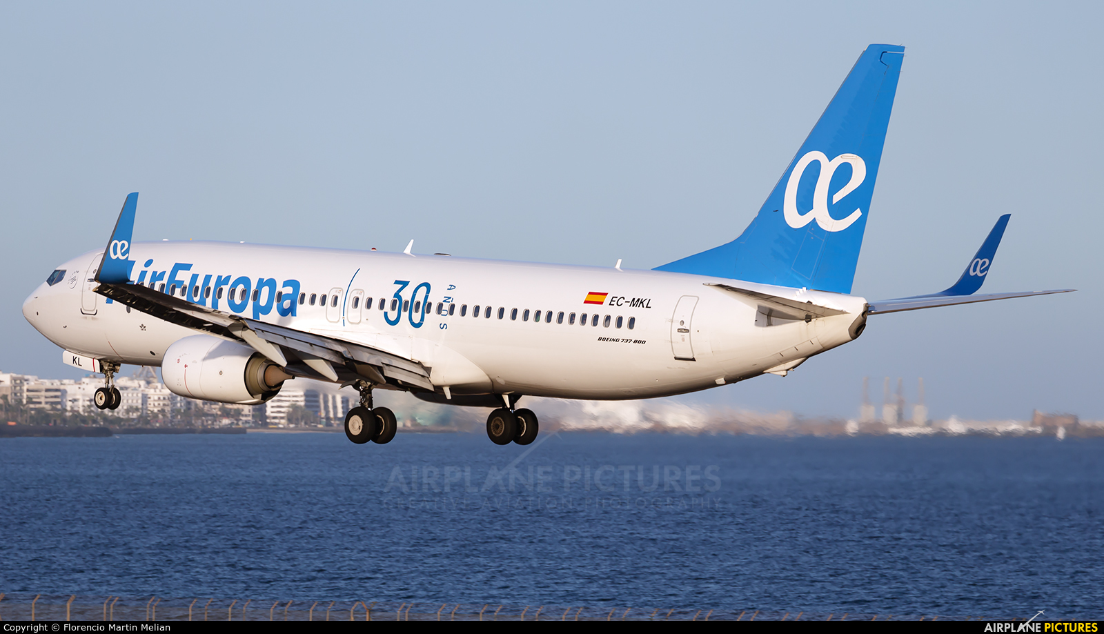 Air Europa EC-MKL aircraft at Lanzarote - Arrecife