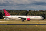 Rare visit of Omni Air International B772 to Eindhoven title=