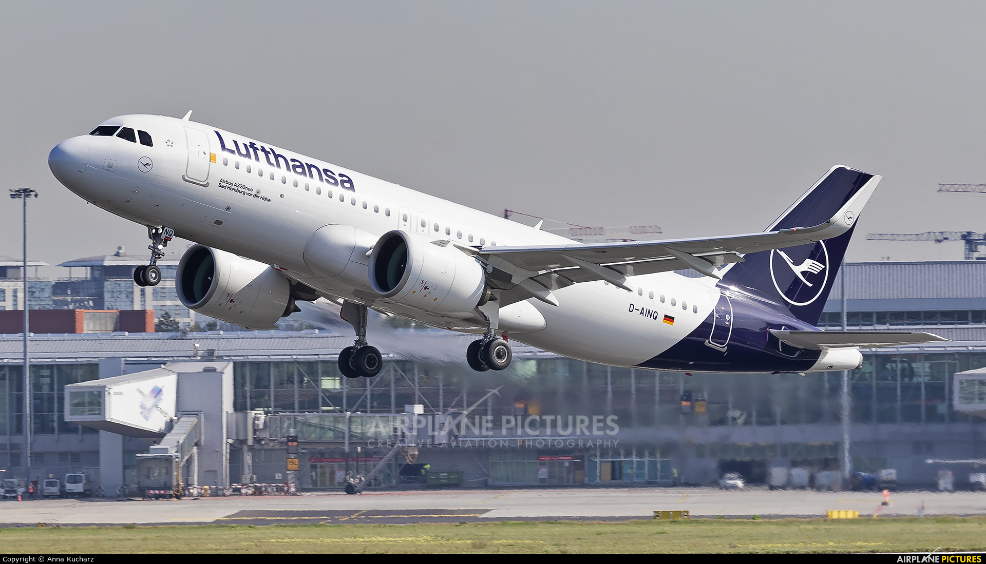 Lufthansa D-AINQ aircraft at Warsaw - Frederic Chopin