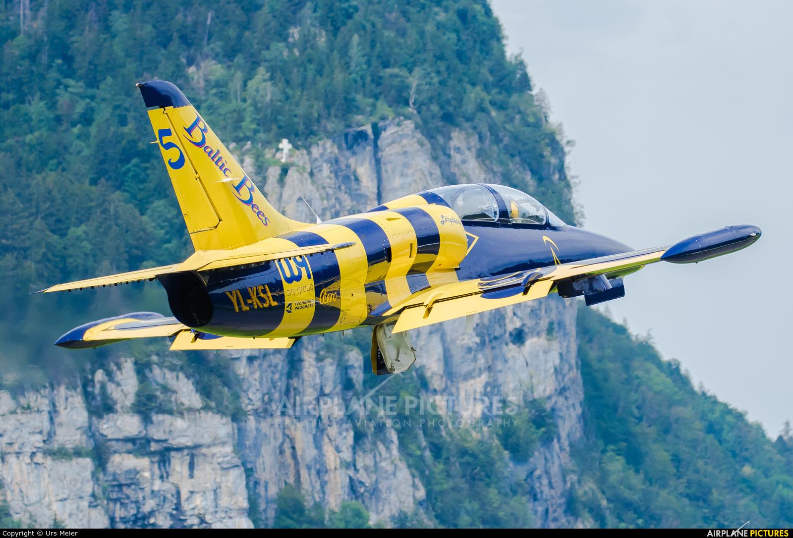 Baltic Bees Jet Team YL-KSL aircraft at Mollis