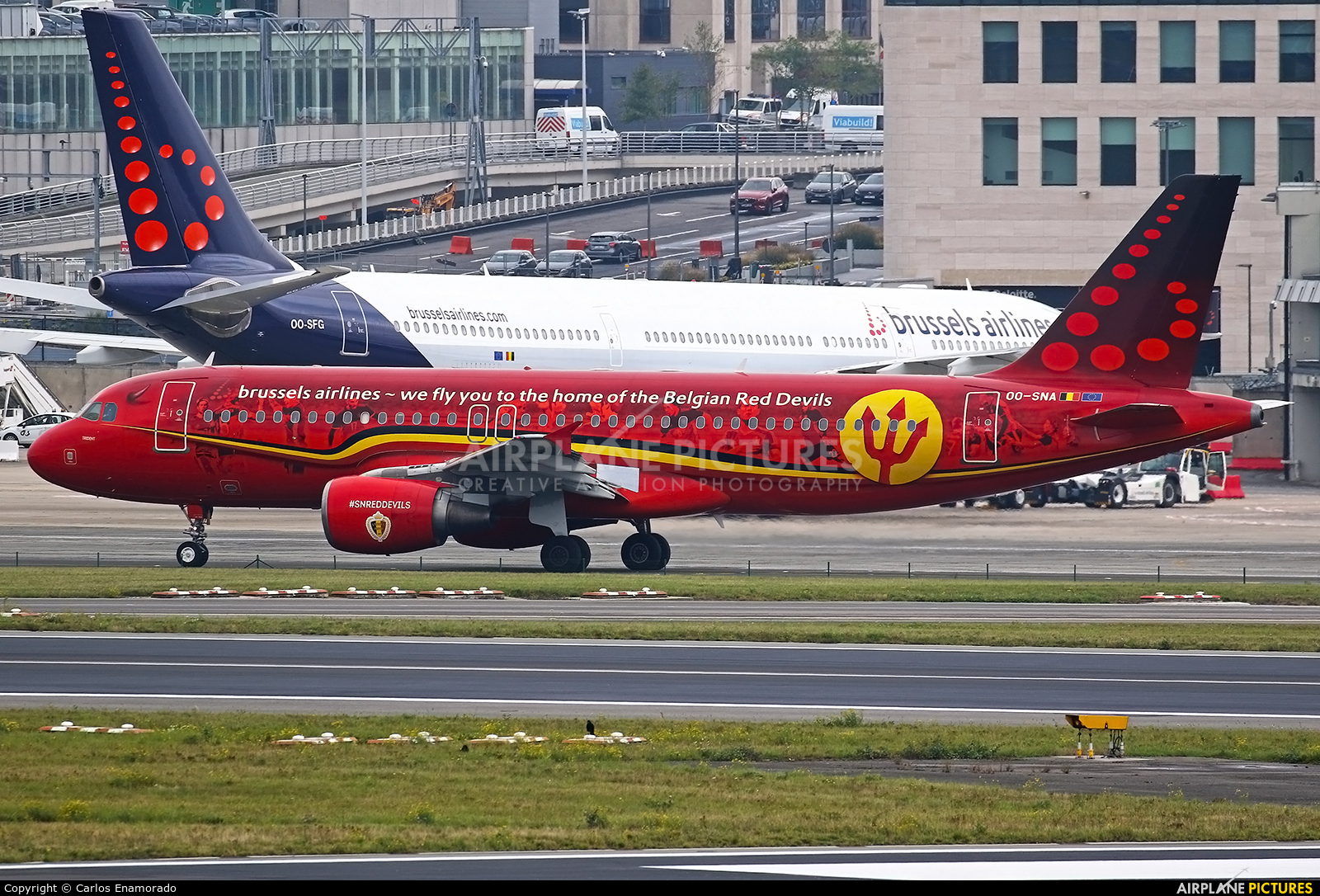 Brussels Airlines OO-SNA aircraft at Brussels - Zaventem