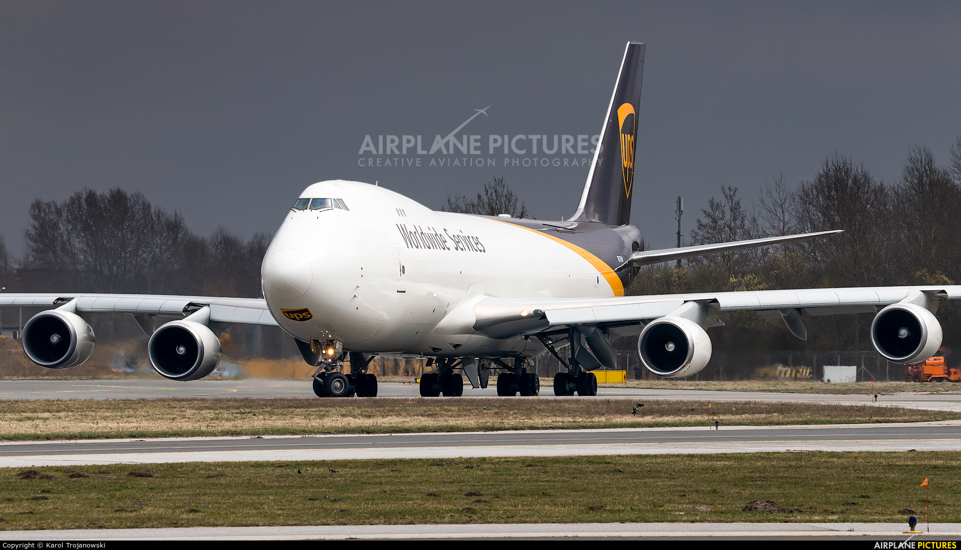 UPS - United Parcel Service N575UP aircraft at Warsaw - Frederic Chopin