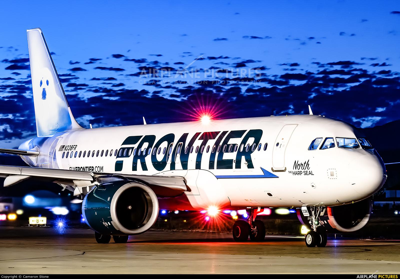 Frontier Airlines N338FR aircraft at Santa Barbara Municipal