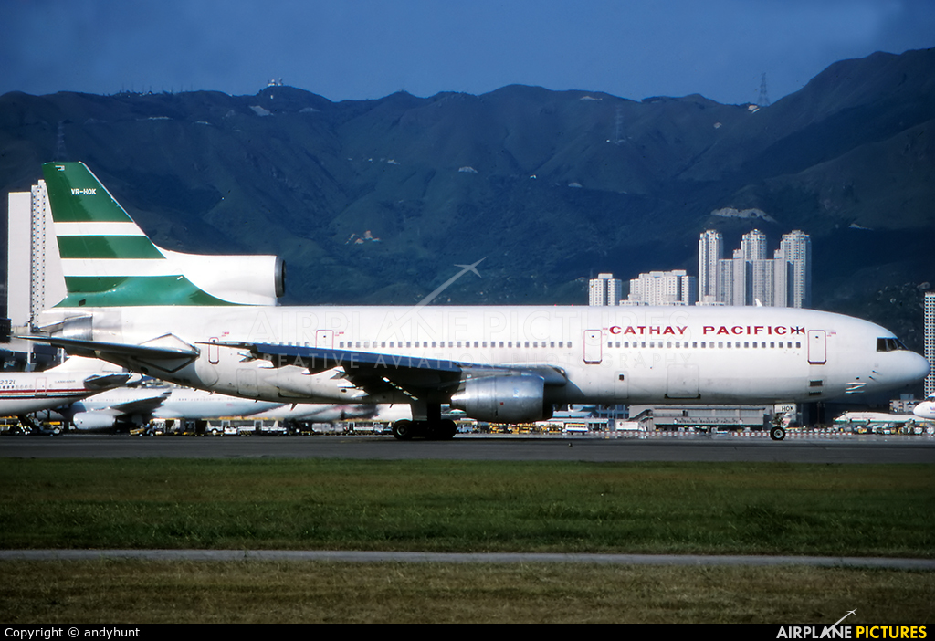 Cathay Pacific VR-HOK aircraft at HKG - Kai Tak Intl CLOSED
