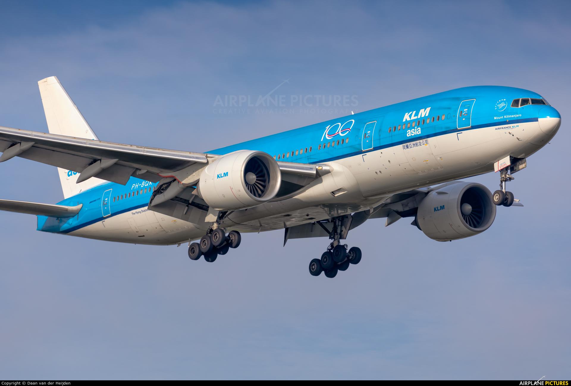 KLM PH-BQK aircraft at Amsterdam - Schiphol
