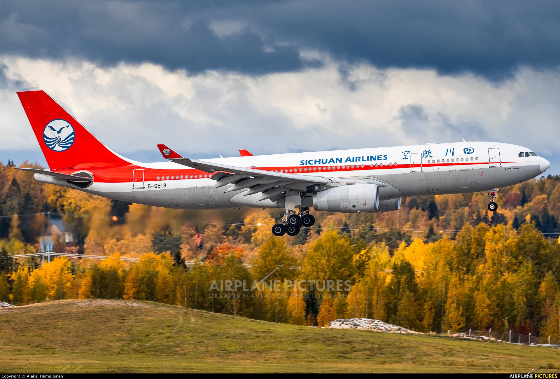 Sichuan Airlines  B-6518 aircraft at Helsinki - Vantaa