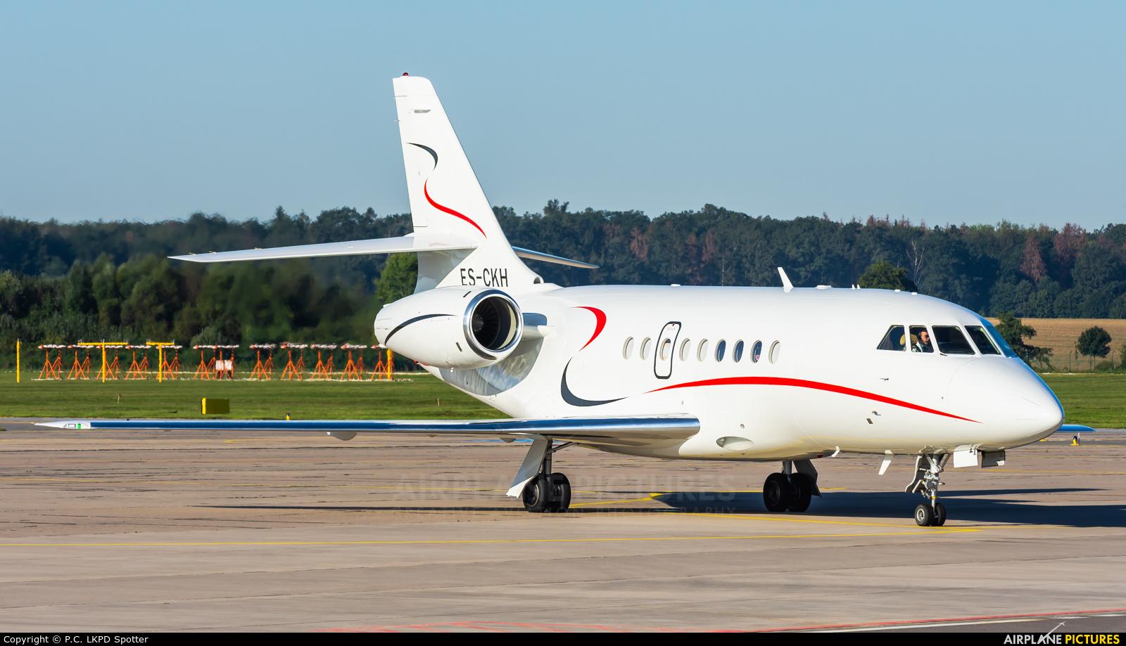 Private ES-CKH aircraft at Pardubice