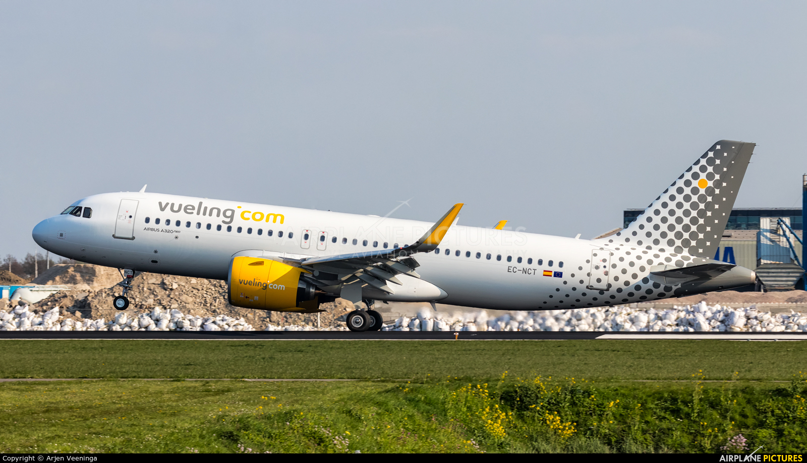 Vueling Airlines EC-NCT aircraft at Amsterdam - Schiphol