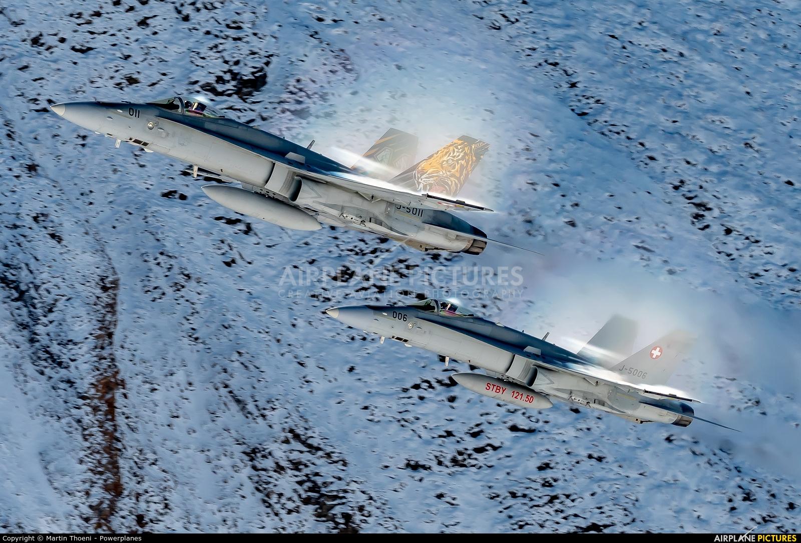 Switzerland - Air Force J-5011 aircraft at Axalp - Ebenfluh Range