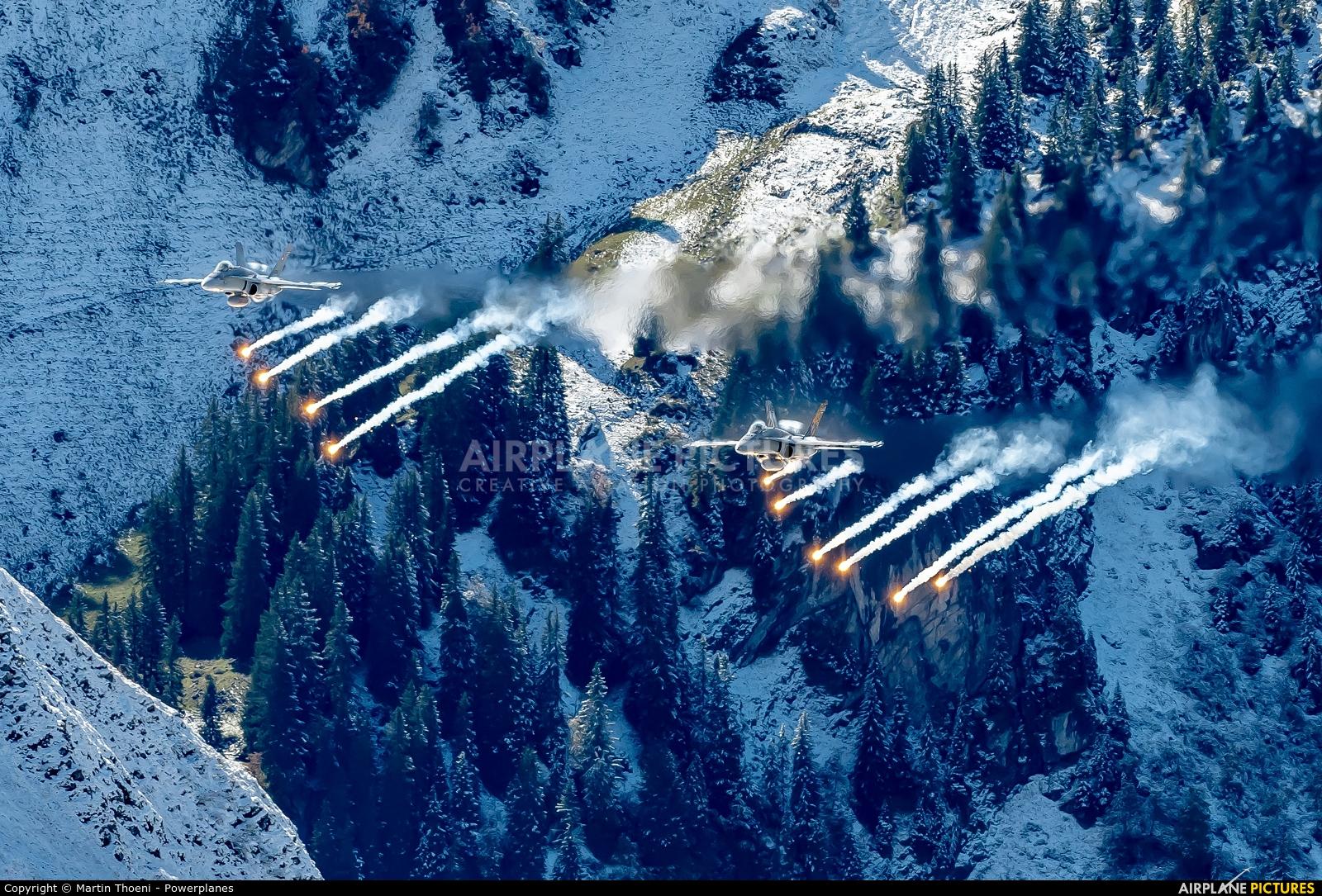 Switzerland - Air Force J-5006 aircraft at Axalp - Ebenfluh Range