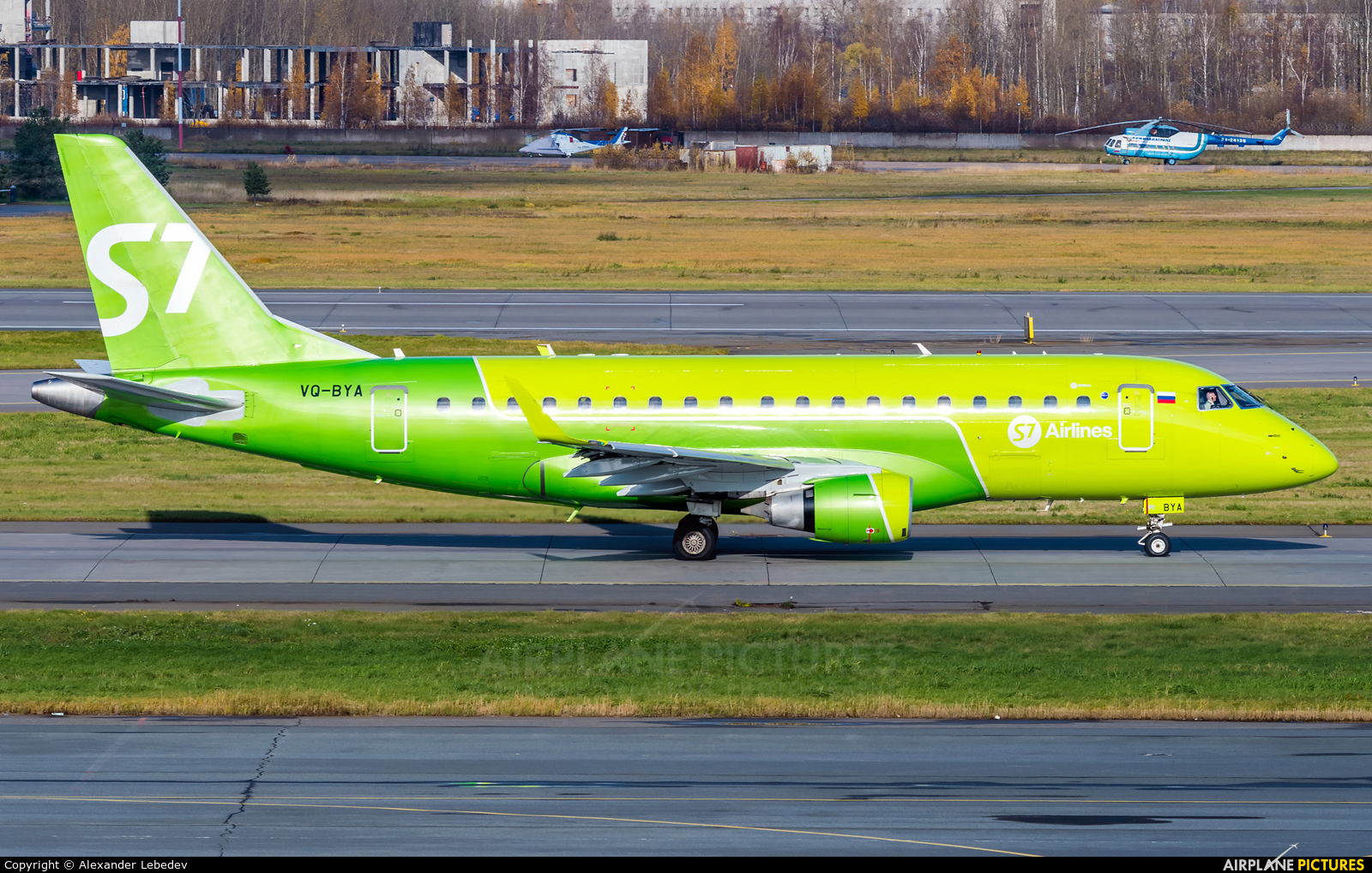 S7 Airlines VQ-BYA aircraft at St. Petersburg - Pulkovo