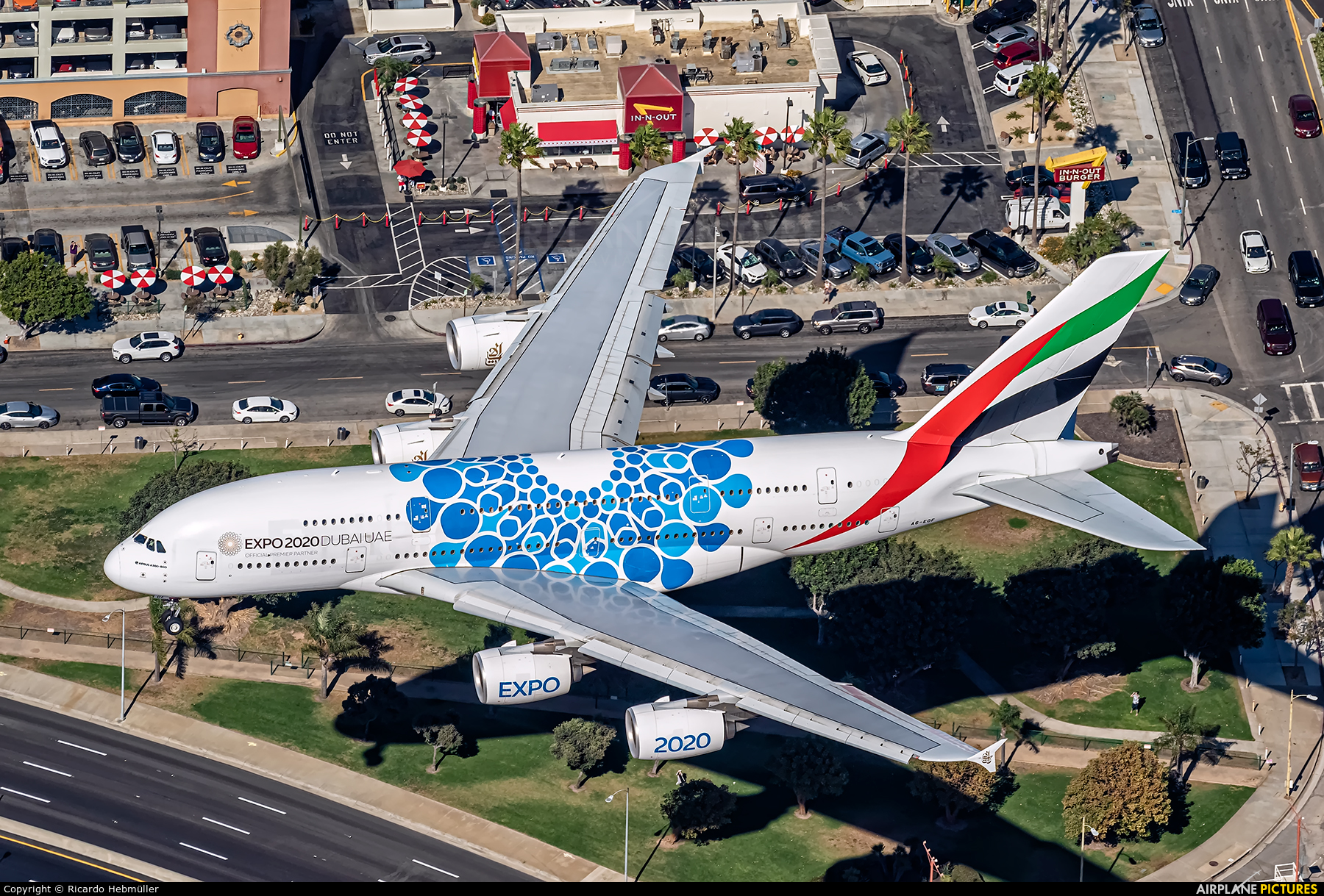 Emirates Airlines A6-EOF aircraft at Los Angeles Intl
