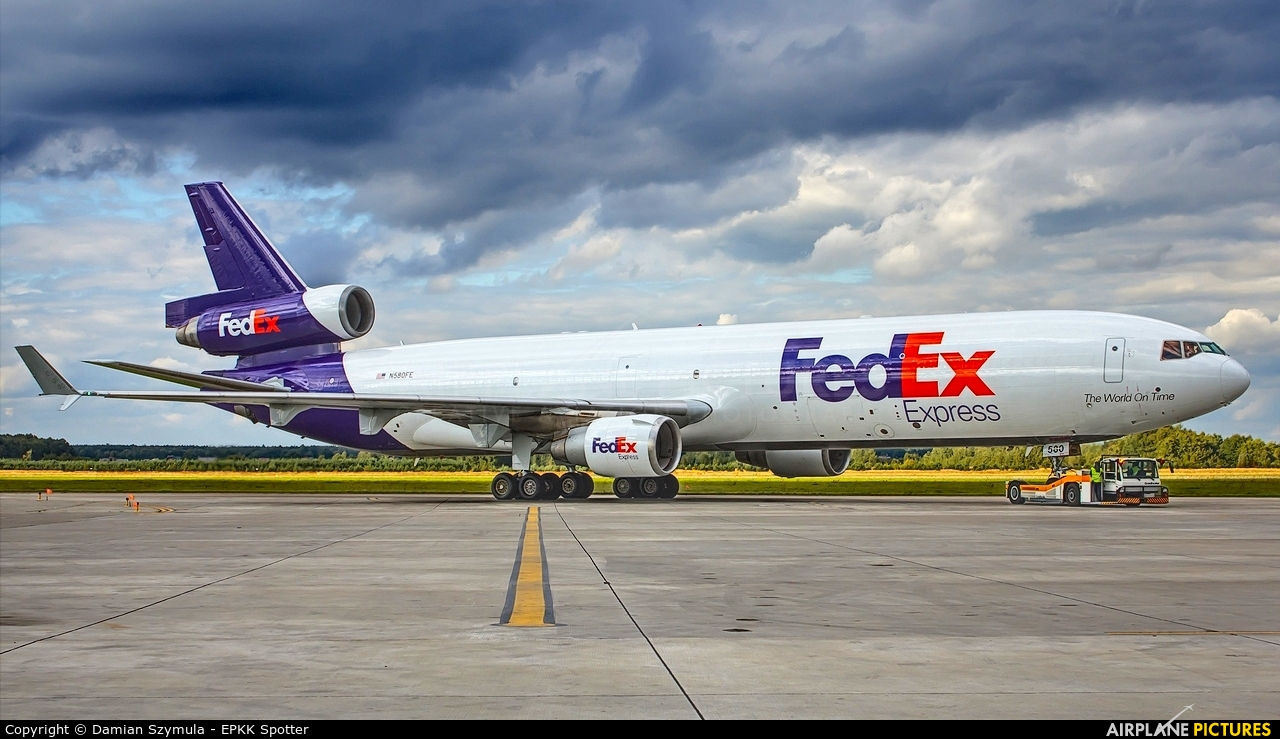 FedEx Federal Express N580FE aircraft at Katowice - Pyrzowice