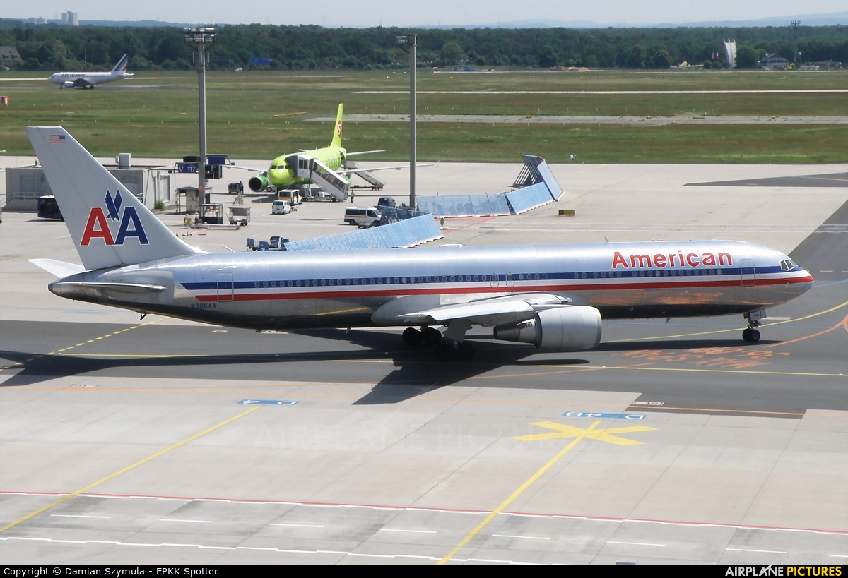 American Airlines N386AA aircraft at Frankfurt