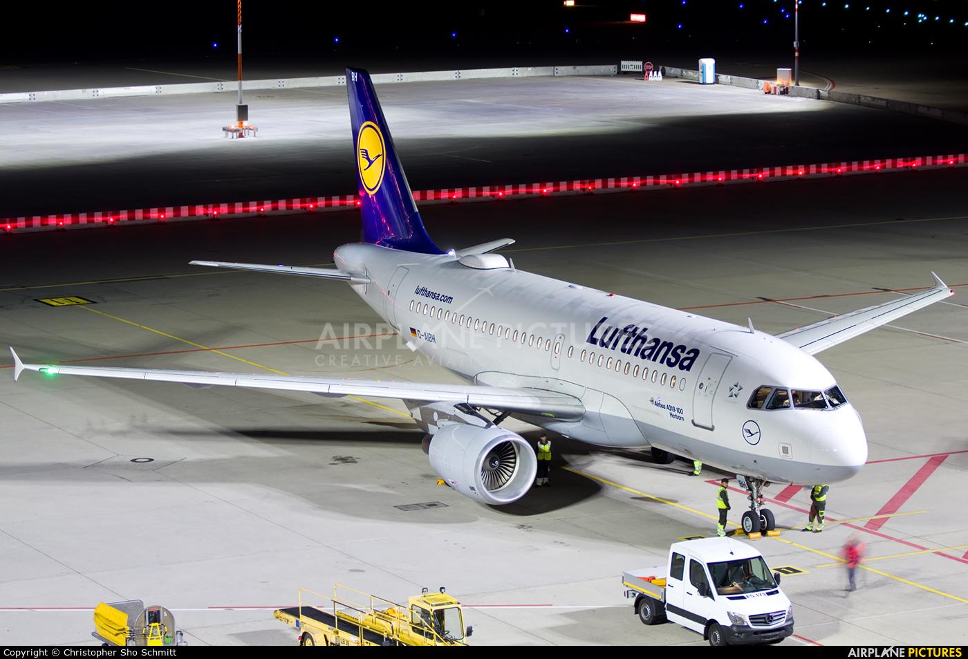 Lufthansa D-AIBH aircraft at Stuttgart