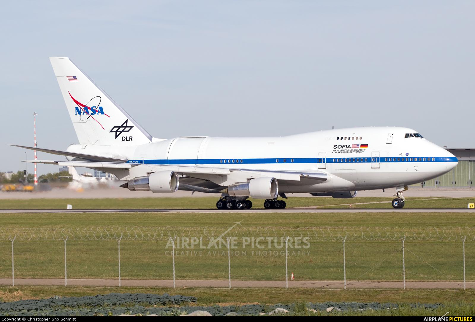 NASA N747NA aircraft at Stuttgart