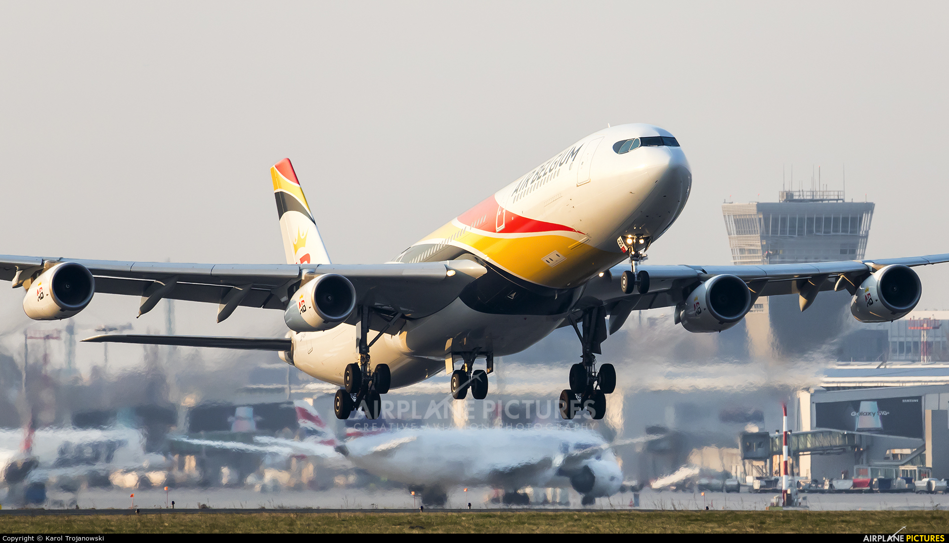 Air Belgium OO-ABA aircraft at Warsaw - Frederic Chopin