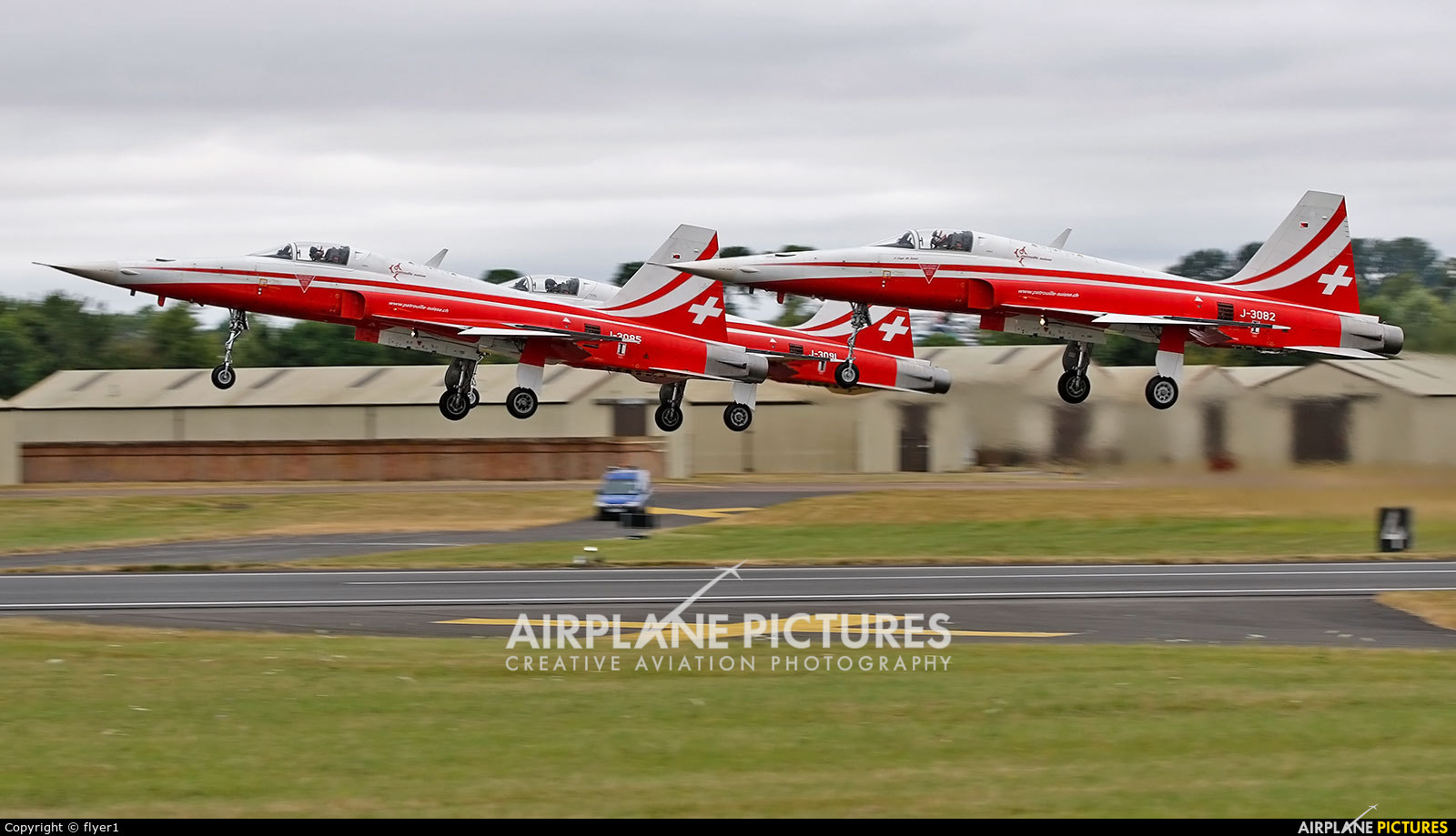 Switzerland - Air Force: Patrouille Suisse J-3082 aircraft at Fairford