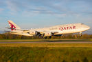 Qatar Amiri Flight Boeing 747-8 BBJ visited Basel