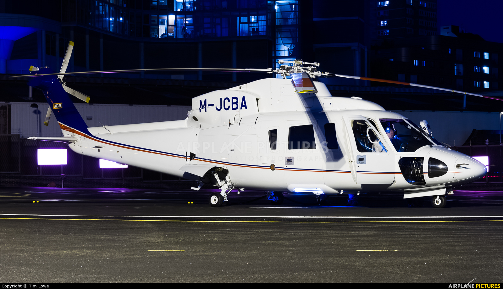 Private M-JCBA aircraft at London Heliport