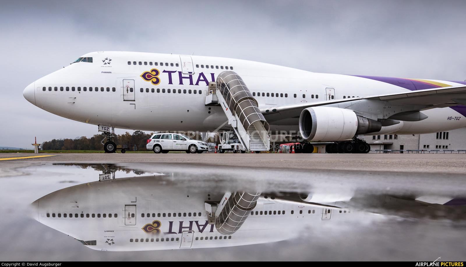 Thai Airways HS-TGZ aircraft at Zurich