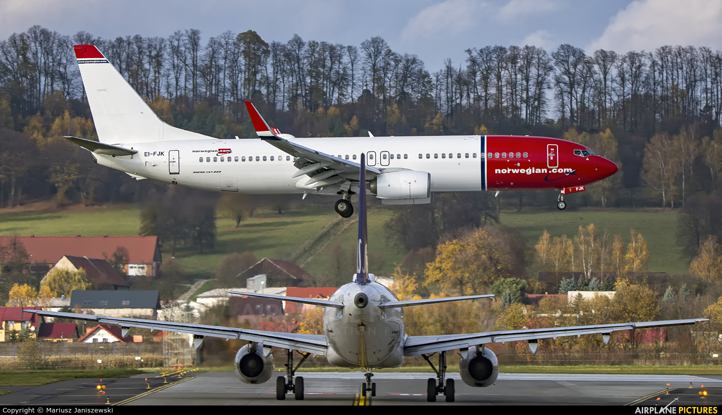 Norwegian Air International EI-FJK aircraft at Kraków - John Paul II Intl