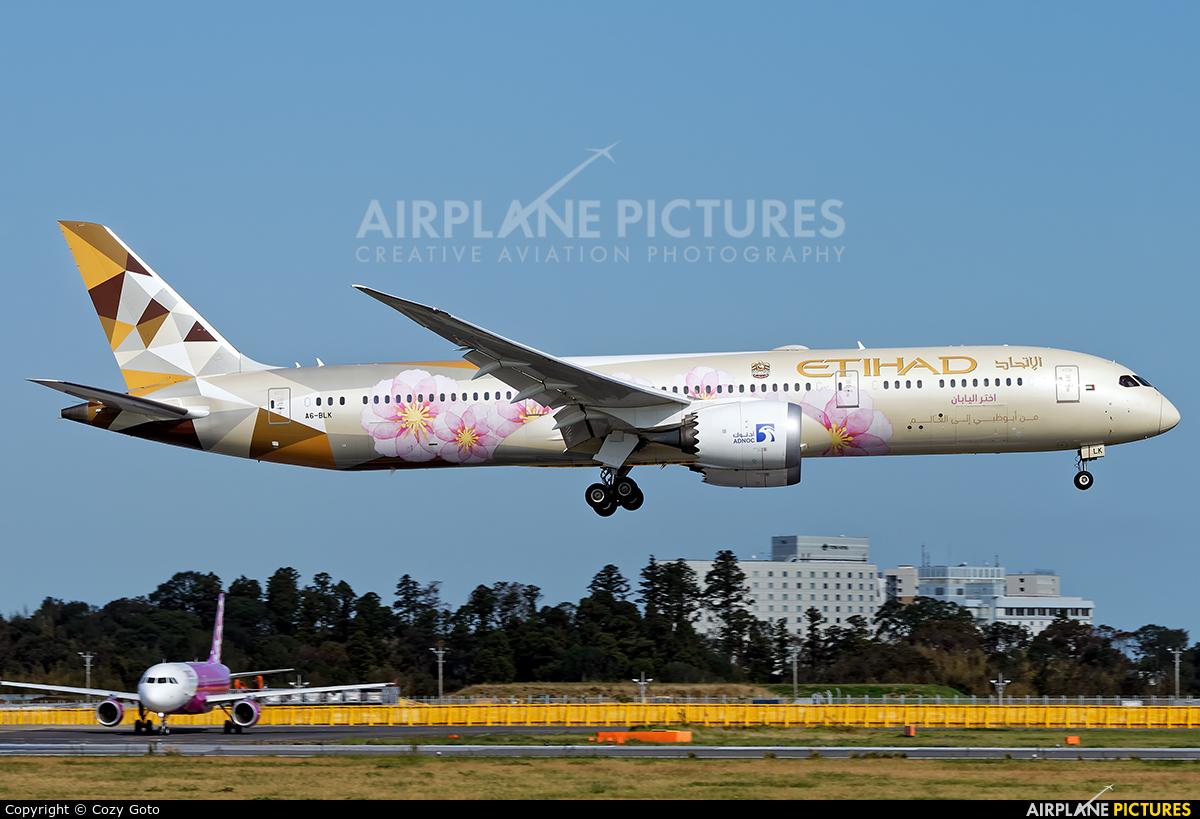 Etihad Airways A6-BLK aircraft at Tokyo - Narita Intl