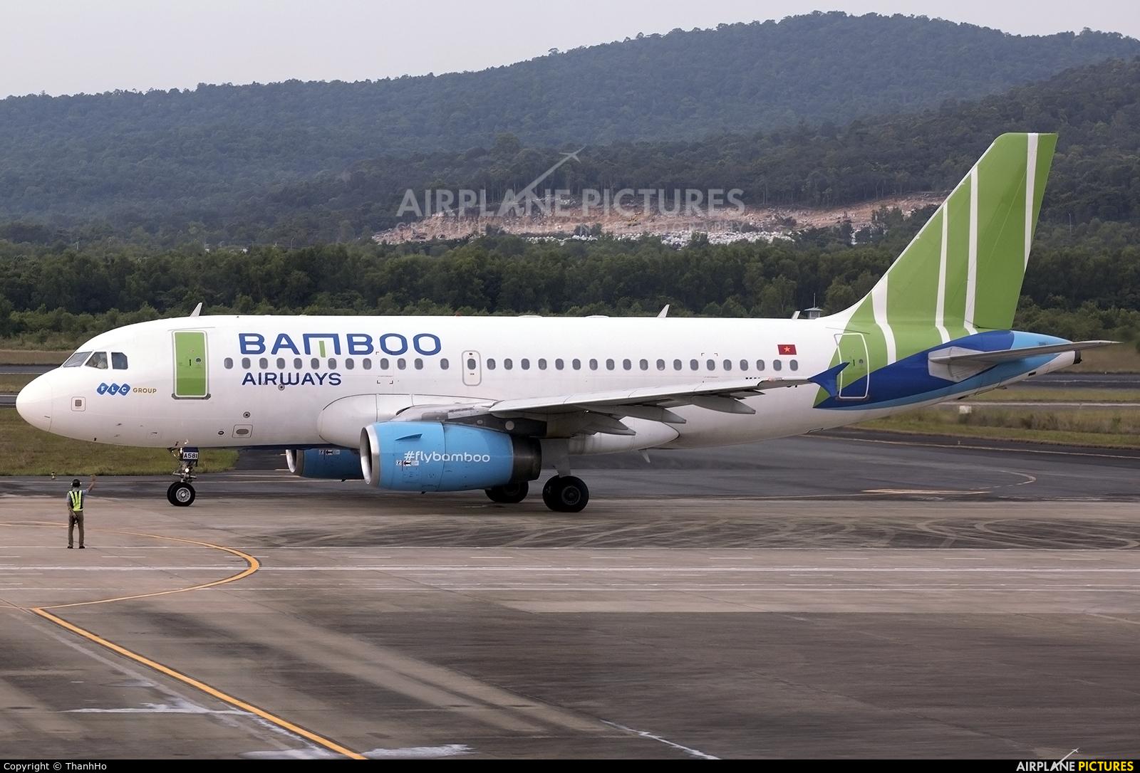 Bamboo Airways VN-A581 aircraft at Phu Quoc