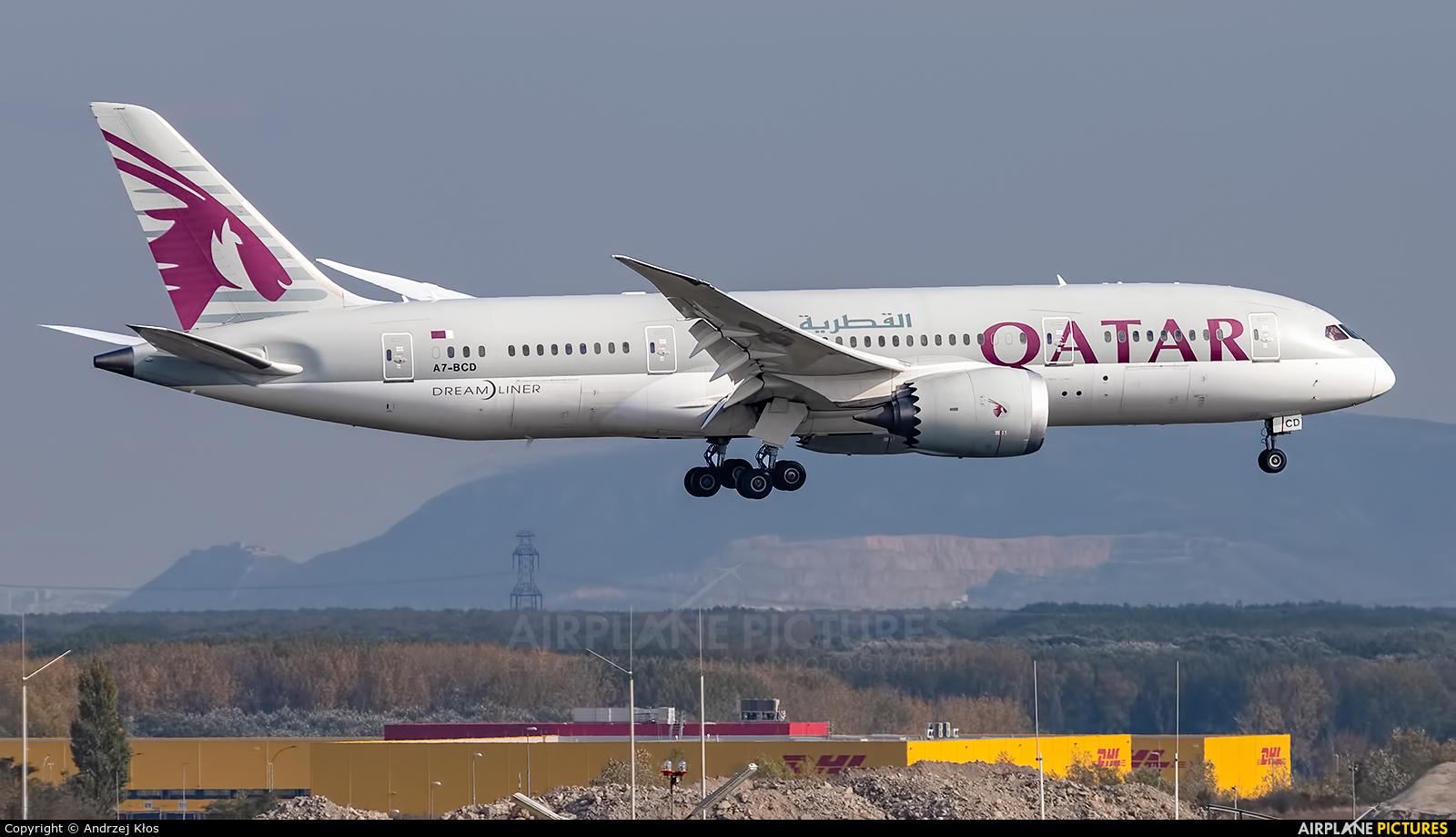Qatar Airways A7-BCD aircraft at Vienna - Schwechat
