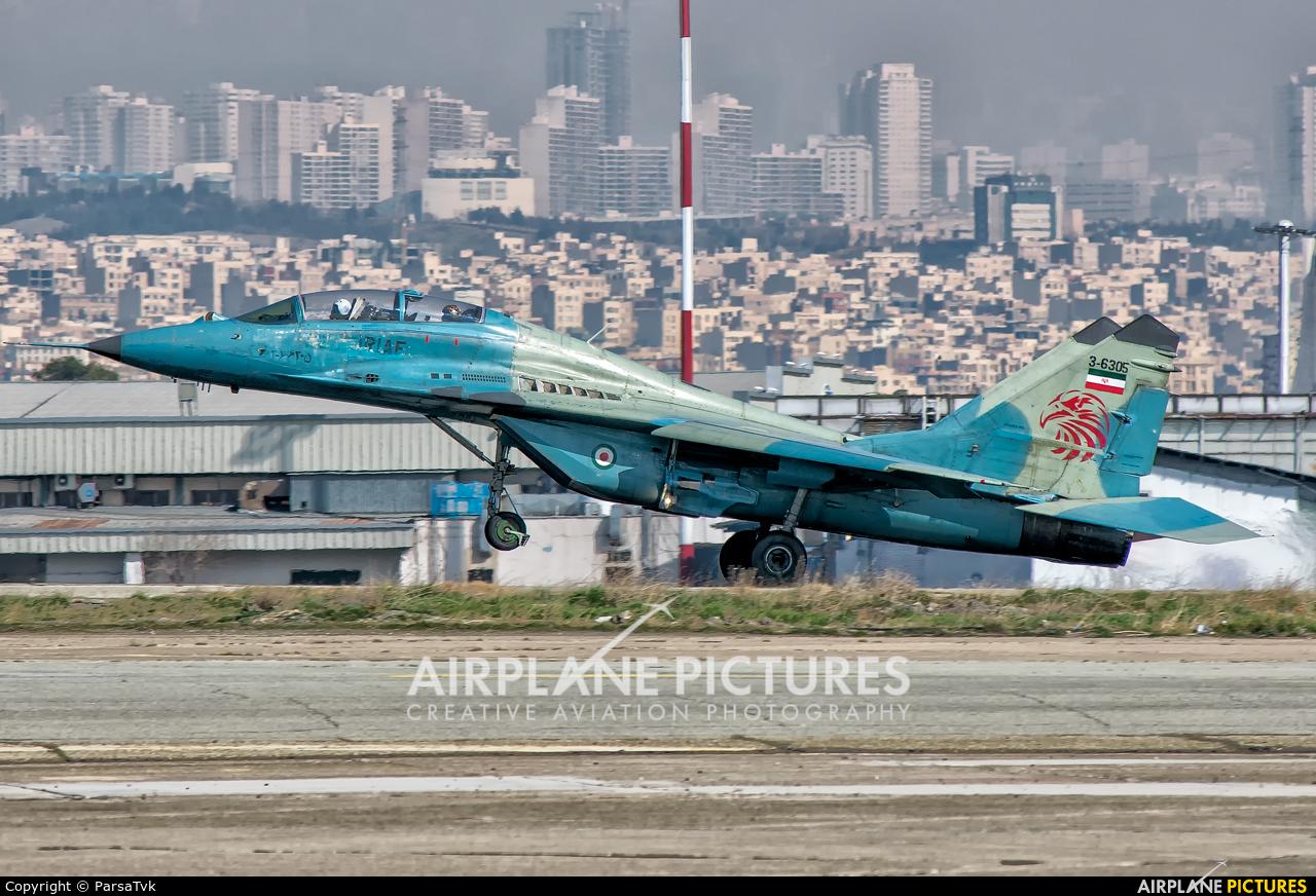 Iran - Islamic Republic Air Force 3-6305 aircraft at Tehran - Mehrabad Intl