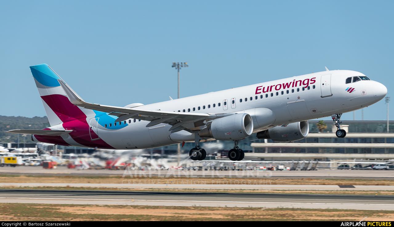 Eurowings D-AEWO aircraft at Palma de Mallorca
