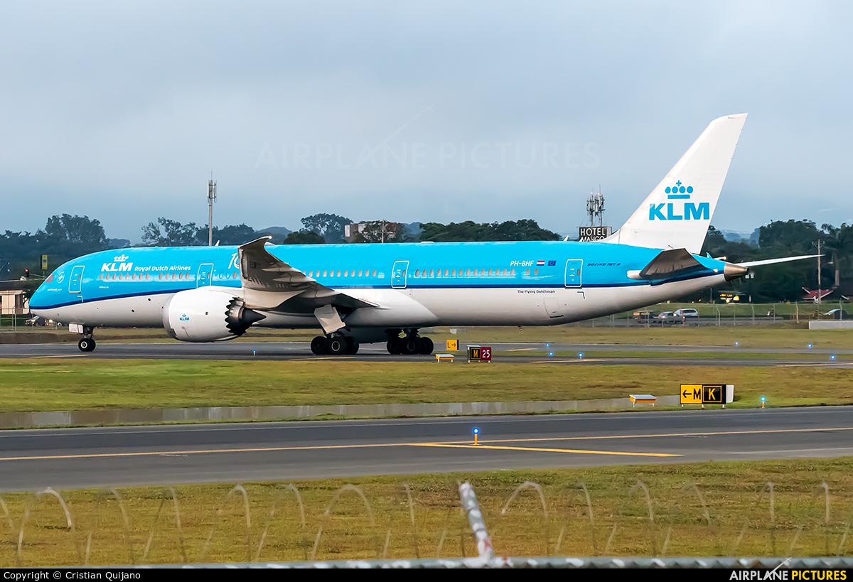 KLM PH-BHF aircraft at San Jose - Juan Santamaría Intl