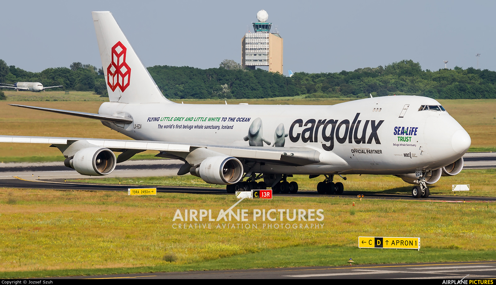 Cargolux LX-ECV aircraft at Budapest Ferenc Liszt International Airport
