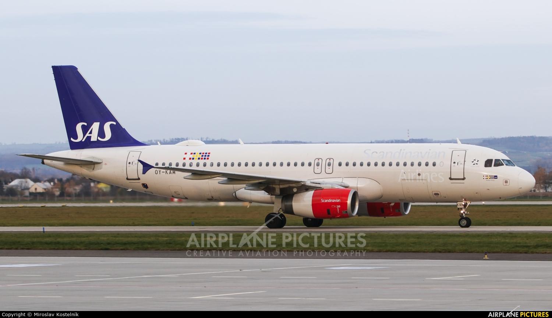 SAS - Scandinavian Airlines OY-KAM aircraft at Ostrava Mošnov