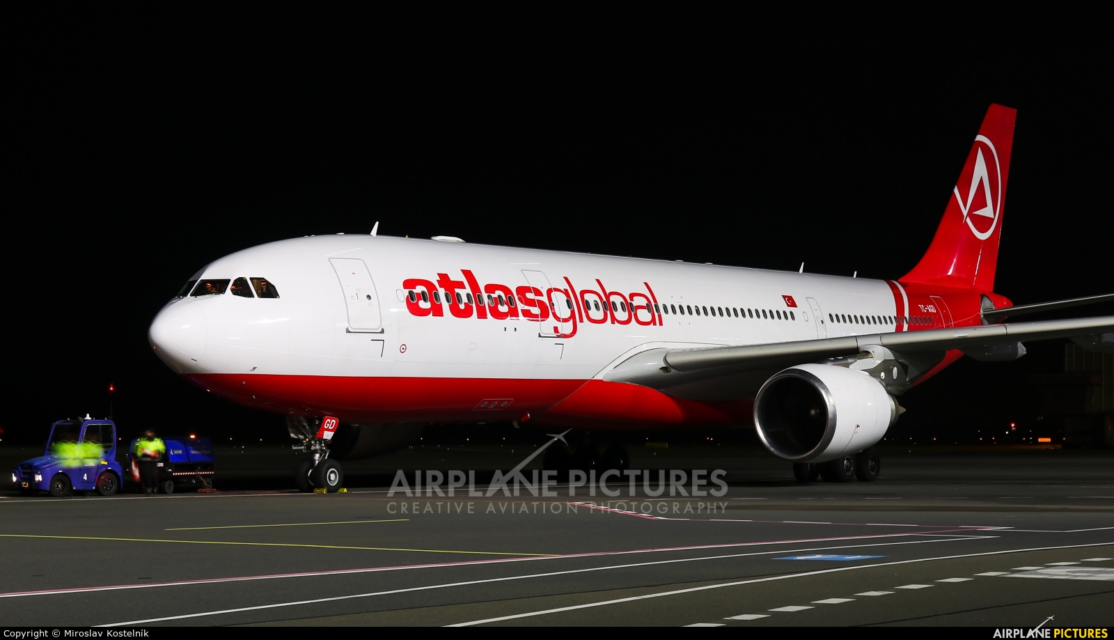 Atlasglobal TC-AGD aircraft at Ostrava Mošnov