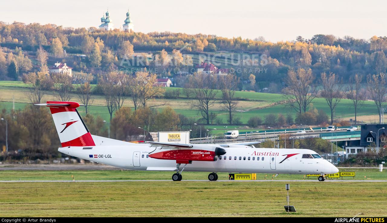 Austrian Airlines/Arrows/Tyrolean OE-LGL aircraft at Kraków - John Paul II Intl