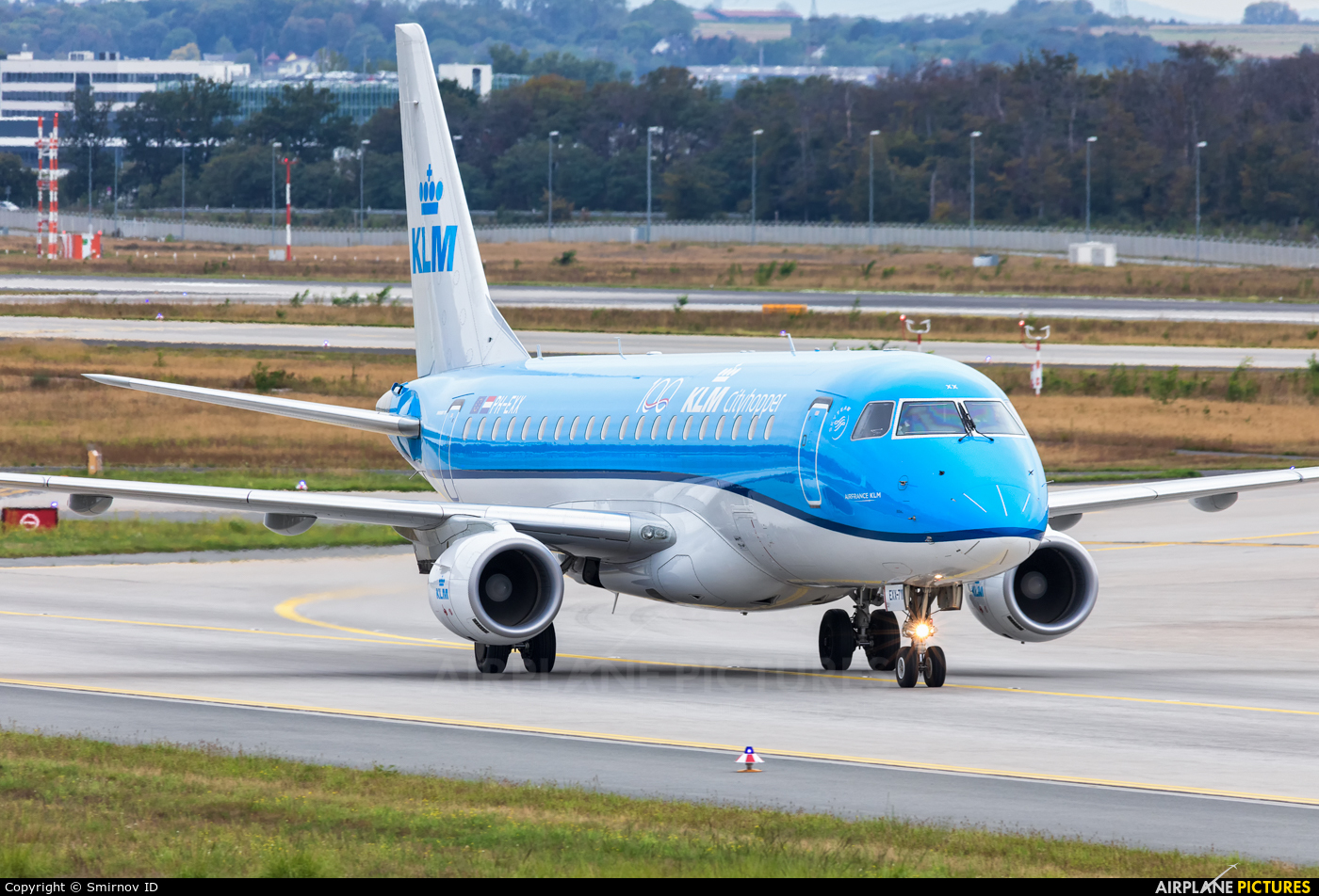 KLM Cityhopper PH-EXX aircraft at Frankfurt
